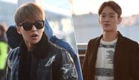 EXO为MAMA现身机场赴港