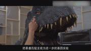 美女進入真人恐龍游戲,在侏羅紀世界怪獸大逃殺,還有霸王龍群咬